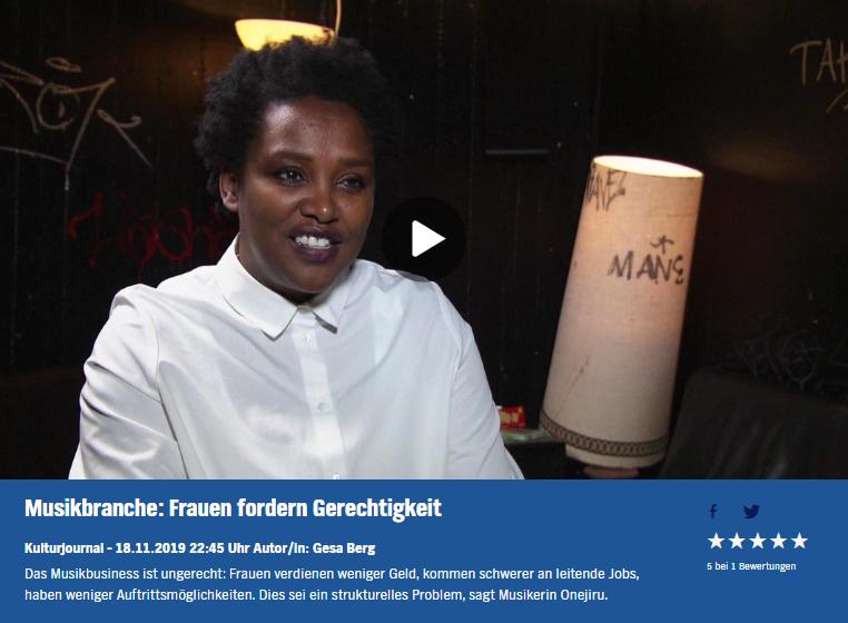 18.11.2019 Kulturjournal: Musikbranche: Frauen fordern Gerechtigkeit