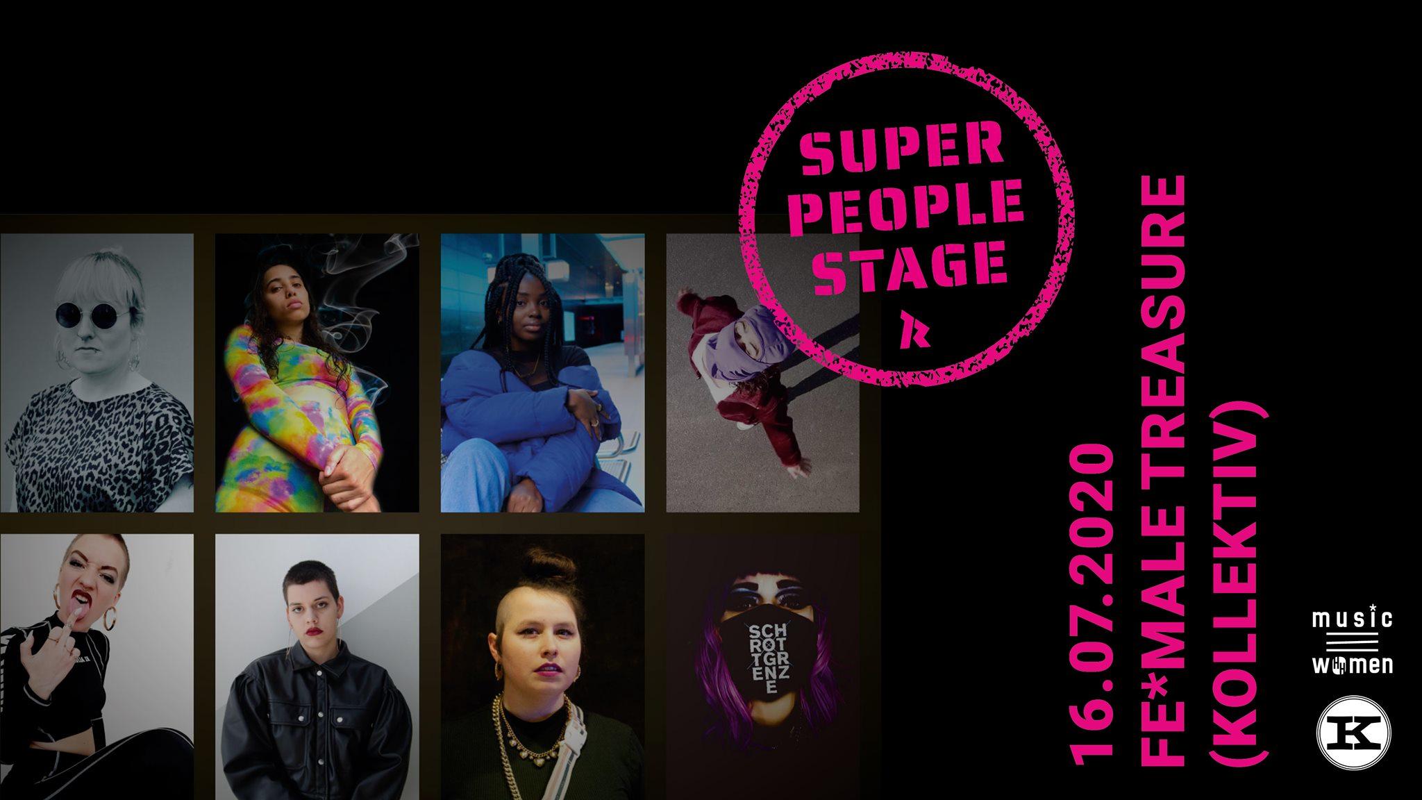 Die musicHHwomen präsentieren: SUPER PEOPLE STAGE beim Knust!